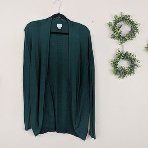 A New Day Green Open Cardigan Sweater